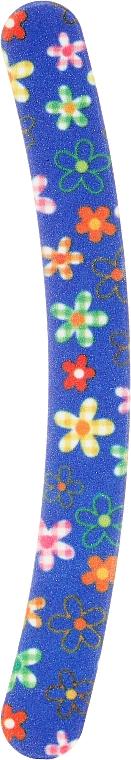 Nagelfeile Banane 180/180 2021 blau mit Blumen - Donegal — Bild N1