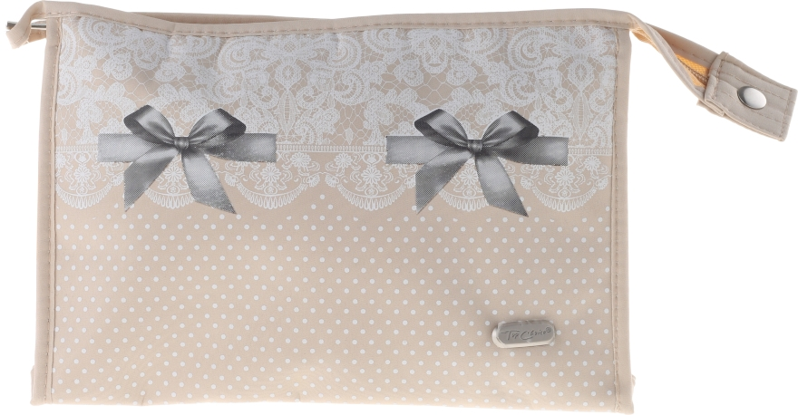 Kosmetiktasche Lace-Bow 96082 beige - Top Choice — Bild N1