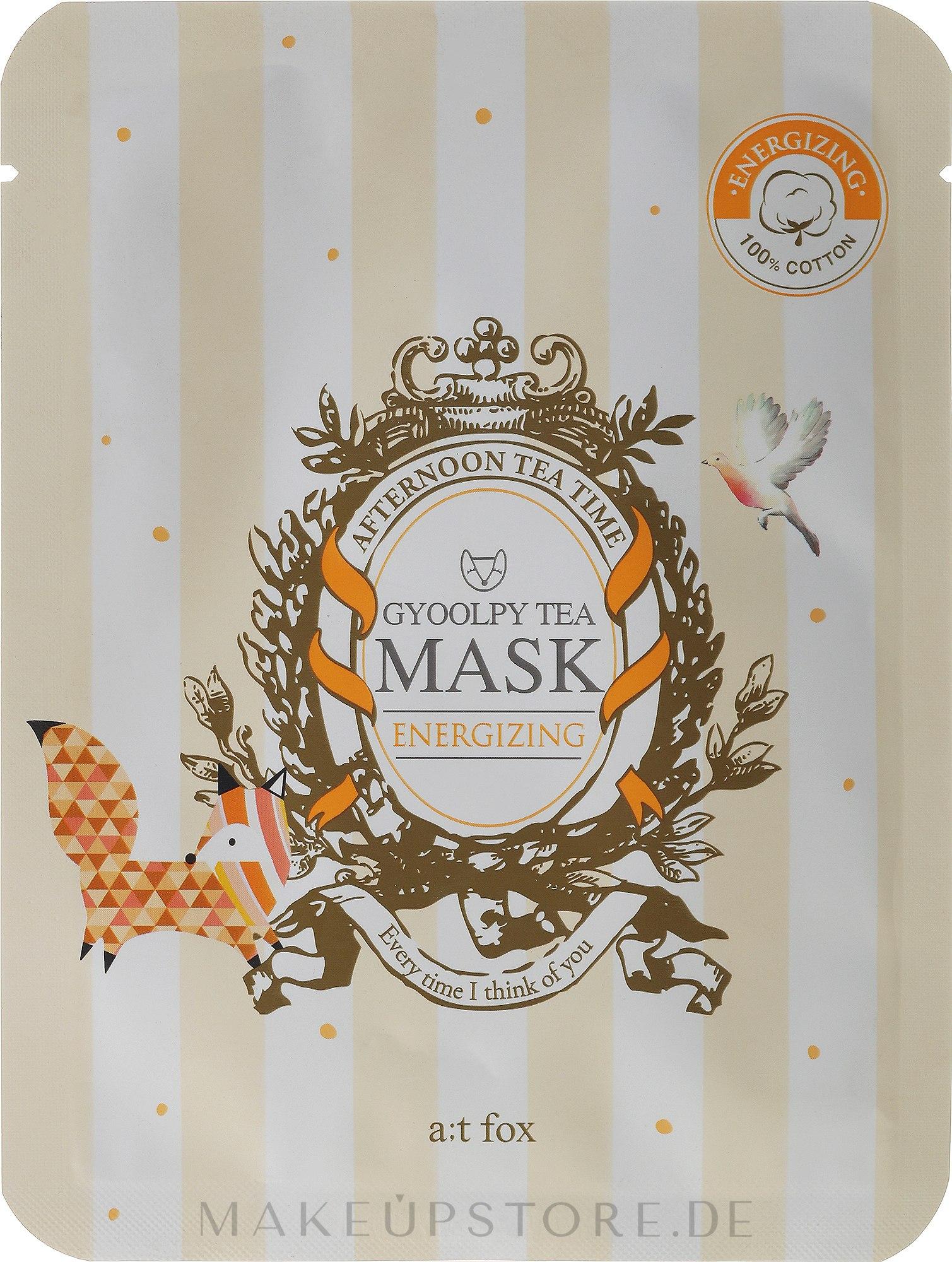 Energiespendende Tuchmaske - A:t fox Energizing Gyoolpy Tea Mask — Bild 20 ml
