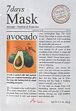Düfte, Parfümerie und Kosmetik Nährende und schützende Gesichtsmaske mit Avokado - Ariul 7 Days Mask Avocado