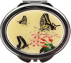 Düfte, Parfümerie und Kosmetik Kosmetischer Taschenspiegel Schmetterlinge und Blumen 85451 - Top Choice