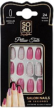 Düfte, Parfümerie und Kosmetik Set Künstliche Nägel 24 St. - Sosu by SJ False Nails Medium Balerina Pillow Talk