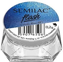 Düfte, Parfümerie und Kosmetik Holographisches Nagelpulver - Semilac Flash