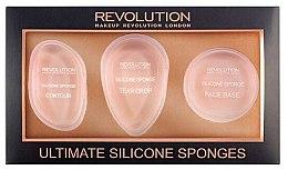 Düfte, Parfümerie und Kosmetik Silikon Make-up Applikator-Set 3 St. - Makeup Revolution Ultimate Silicone Sponge Set