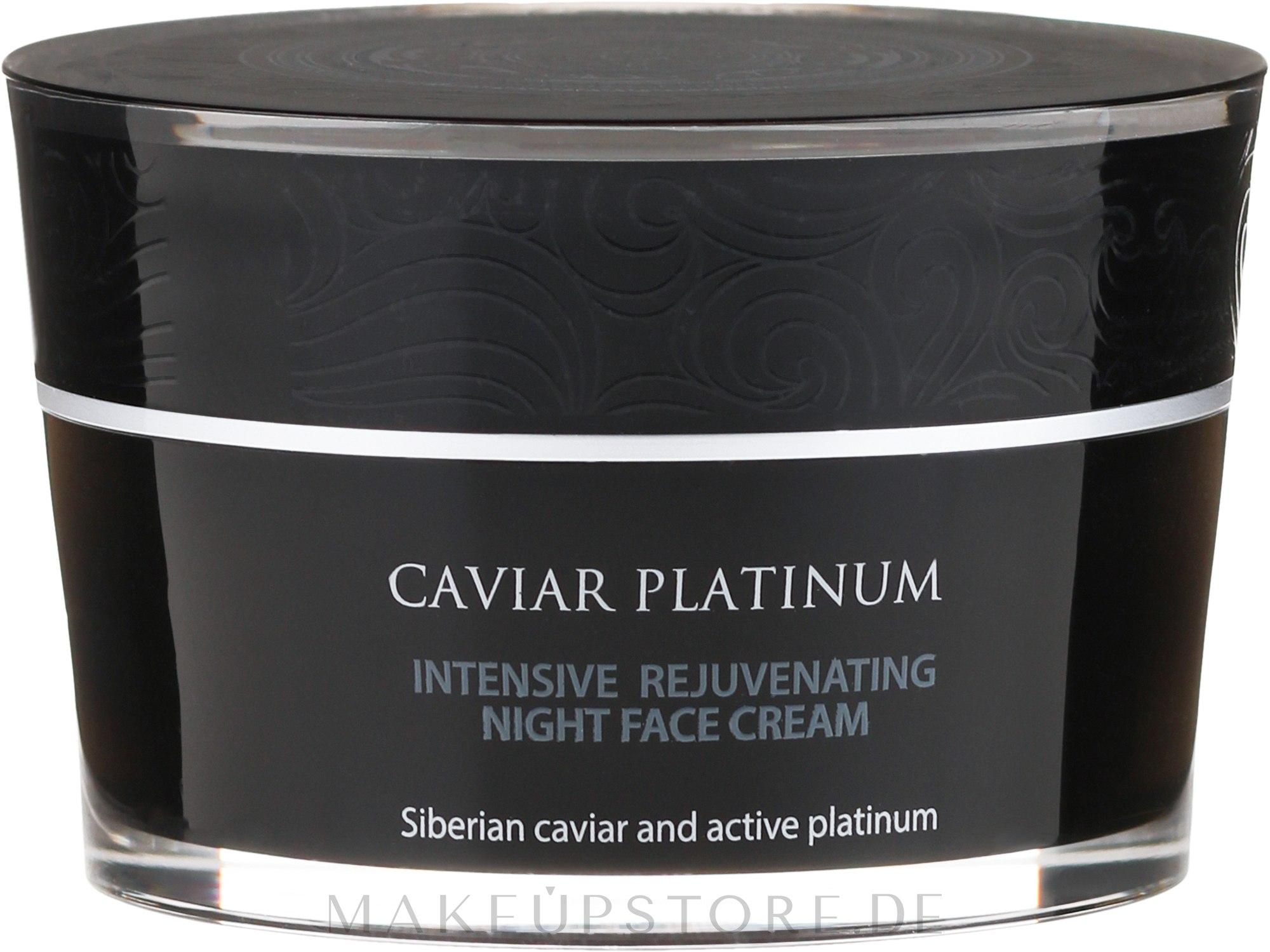 Intensiv regenerierende Nachtcreme - Natura Siberica Caviar Platinum Intensive Rejuvenating Night Face Cream — Bild 50 ml