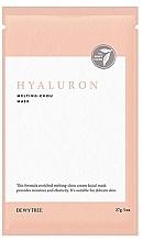 Düfte, Parfümerie und Kosmetik Tuchmaske für empfindliche Haut mit Hyaluronsäure - Dewytree Hyaluron Melting Chou Mask