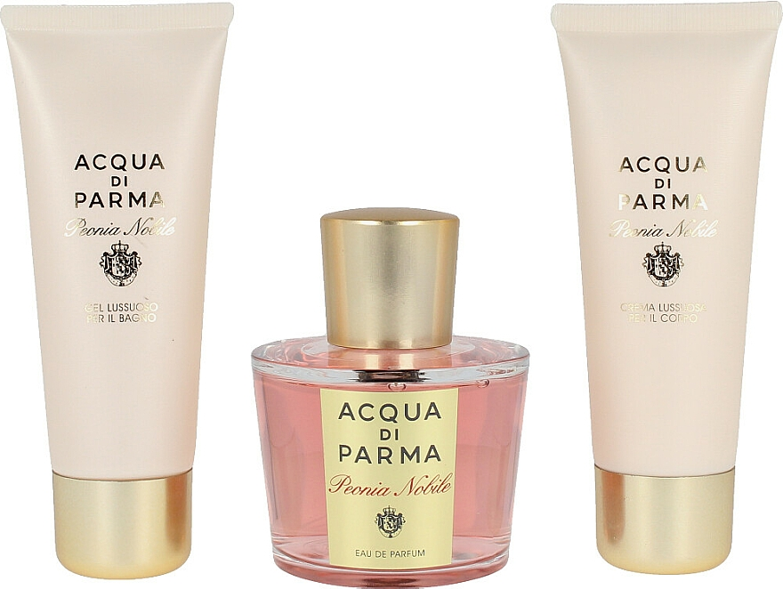 Acqua di Parma Peonia Nobile - Duftset (Eau de Parfum 100ml + Duschgel 75ml + Körpercreme 75ml) — Bild N3