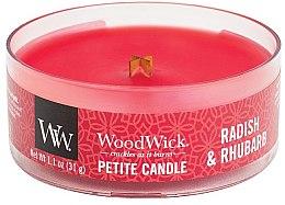 Düfte, Parfümerie und Kosmetik Mini Duftkerze im Glas Radish & Rhubarb - Woodwick Petite Candle Radish & Rhubarb