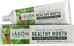 Düfte, Parfümerie und Kosmetik Zahnpasta mit Teebaumöl und Zimt gegen Zahnstein Healthy Mouth - Jason Natural Cosmetics Healthy Mouth Tartar Control Toothpaste