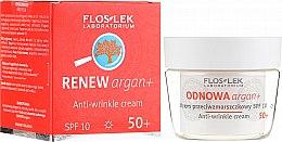 Düfte, Parfümerie und Kosmetik Anti-Falten Tagescreme für das Gesicht mit Arganöl 50+ SPF 10 - Floslek Odnowa Argan+ 50+