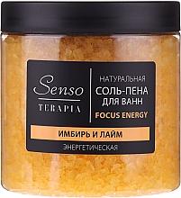 Düfte, Parfümerie und Kosmetik Natürliches Badesalz mit Ingwer und Limette - Senso Terapia Focus Energy