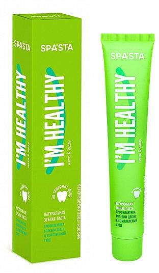 Natürliche Zahnpasta zur Vorbeugung von Zahnfleischerkrankungen - Spasta I Am Healthy Toothpaste — Bild N1