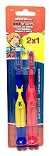 Düfte, Parfümerie und Kosmetik Kinderzahnbürste blau-gelb, rot 2 St. - Kin Dental Toothbrush Pack