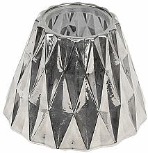 Düfte, Parfümerie und Kosmetik Lampenschirm für mittlere Duftkerze - WoodWick Geometric Silver Shade