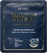 Düfte, Parfümerie und Kosmetik Feuchtigkeitsspendende Gesichtsmaske - Petitfee & Koelf Black Pearl & Gold Hydrogel Mask Pack
