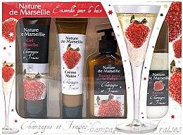Düfte, Parfümerie und Kosmetik Körperpflegeset - Nature de Marseille Stawberry (Duschgel 100ml + Handcreme 60ml + Körperbalsam 150ml + Seife 90g)