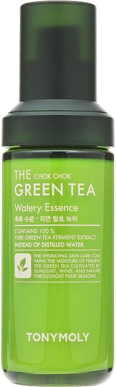 Hochkonzentrierte feuchtigkeitsspendende und beruhigende Gesichtsessenz mit Grüntee-Extrakt, Zitronensamen und Rosenholzöl - Tony Moly The Chok Chok Green Tea Watery Essence — Bild N1