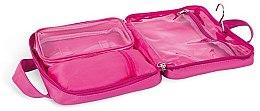 Faltbare Kosmetiktasche mit Henkel 4945 rosa mit Tröpfchen - Donegal Cosmetic Bag — Bild N2