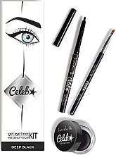 Düfte, Parfümerie und Kosmetik Makeup Set (Augenkonturenstift + Gel-Eyeliner + Eyeliner Pinsel) - Lovely Celeb Kit
