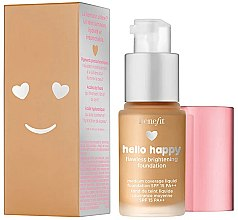 Düfte, Parfümerie und Kosmetik Benefit Hello Happy Flawless Brightening Foundation SPF 15 PA++ - Aufhellende Foundation für ein makelloses Finish (Mini)