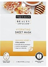 Düfte, Parfümerie und Kosmetik Feuchtigkeitsspendende Tuchmaske für das Gesicht mit Manuka-Honig und Kollagen - Freeman Beauty Infusion Hydrating Cream Mask Manuka Honey + Collagen