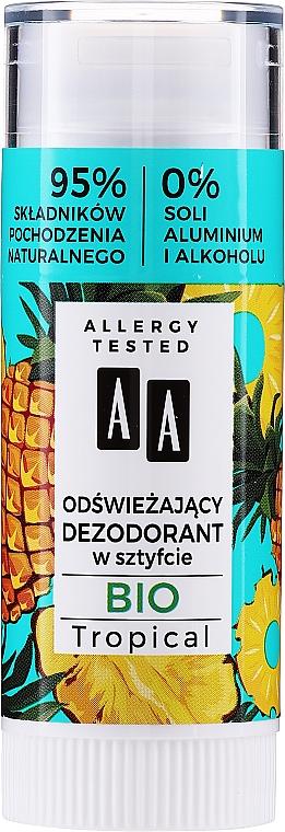 Erfrischender Deostick mit tropischem Duft - AA Bio Tropical Deodorant Stick