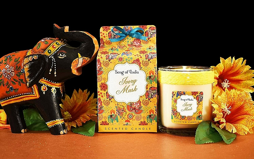Duftkerze im Glas Ivory Musk - Song of India Ivory Musk Scented Candle — Bild N3
