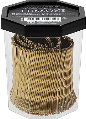 Haarnadeln 6 cm gold - Lussoni Waved Hair Grips 6 cm Golden — Bild N2