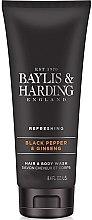 Düfte, Parfümerie und Kosmetik 2in1 Duschgel und Shampoo Black Pepper & Ginseng - Baylis & Harding Black Pepper & Ginseng