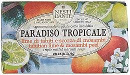 Düfte, Parfümerie und Kosmetik Naturseife Tahitian Lime & Mosambi Peel - Nesti Dante Energizing Vegetable Soap Paradiso Tropicale Collection