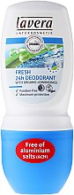 Düfte, Parfümerie und Kosmetik Deo Roll-On Antitranspirant mit Bio Zitronengras Fresh - Lavera Fresh 24h Deodorant With Organic Lemobgrass