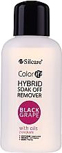 Düfte, Parfümerie und Kosmetik Gel-Nagellackentferner mit Ölen - Silcare Soak Off Remover Black Grape
