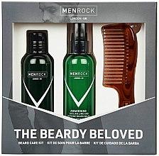 Düfte, Parfümerie und Kosmetik Bartpflegeset - Men Rock Awakening Beardy Beloved Sicilian Lime Starter Kit (Bartshampoo 100ml + Bartbalsam 100ml +Bartkamm 1St.)