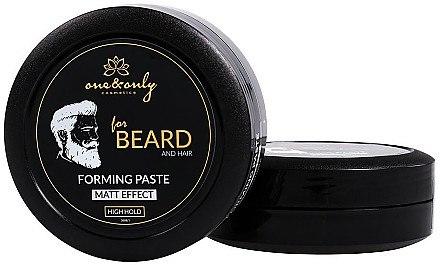 Modellierende Haar- und Bartpaste mit Matt-Effekt Starker Halt - One&Only Cosmetics For Beard&Hair Forming Paste Matt Effect — Bild N2