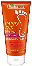 Düfte, Parfümerie und Kosmetik Regenerierendes Fußpeeling - Bielenda Happy End Peeling Feet And Heels With A Pumice Stone Natural