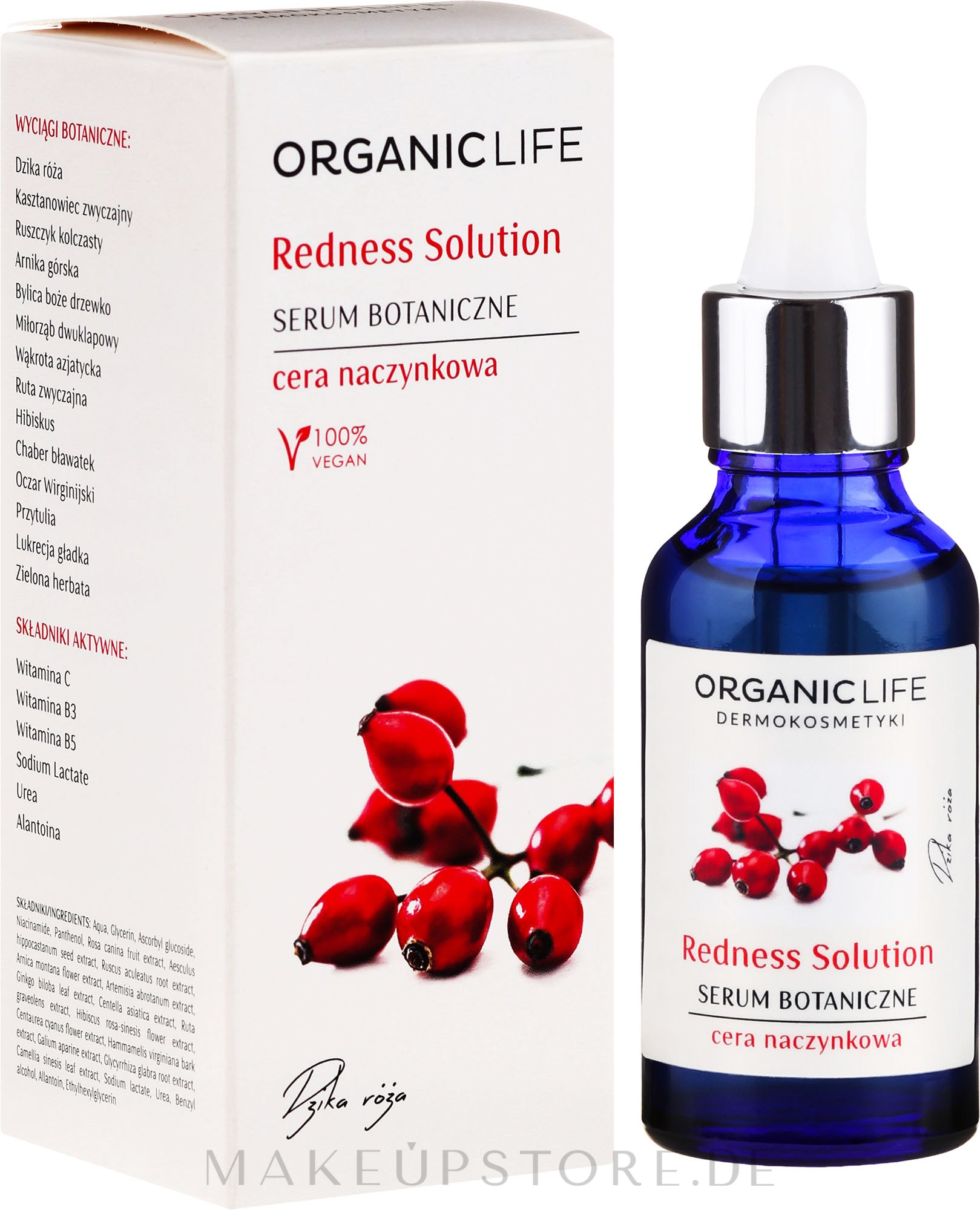 Serum gegen Hautrötungen - Organic Life Dermocosmetics Redness Solution — Bild 30 ml