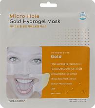 Düfte, Parfümerie und Kosmetik Hydrogel-Gesichtsmaske mit Gold und Ginkgo Biloba - Beauugreen Micro Hole Gold Energy Hydrogel Mask