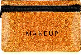 Düfte, Parfümerie und Kosmetik Kosmetiktasche Glitter Pouch orange 18x11 cm - MakeUp