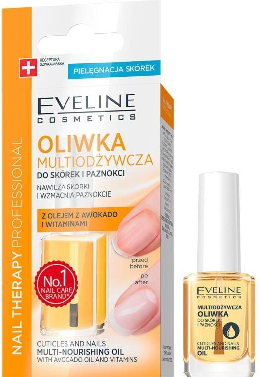 Pflegeöl für Nägel und Nagelhaut - Eveline Cosmetics Nail Therapy Professional  — Bild N1