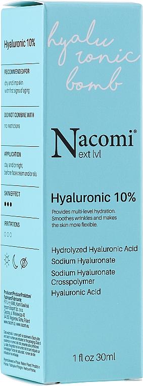 Gesichtsserum mit 10% Hyaluronsäure - Nacomi Next Level Hyaluronic 10% — Bild N1