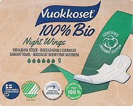 Düfte, Parfümerie und Kosmetik Damenbinden für die Nacht 9 St. - Vuokkoset Bio Night Wings
