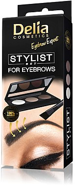 Augenbrauen Lidschatten-Palette - Delia Cosmetics Eyebrow Expert Stylist Set — Bild N1