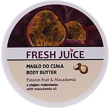 Düfte, Parfümerie und Kosmetik Creme-Butter für die Körper mit Passionsfrucht und Macadamia - Fresh Juice Passion Fruit & Macadamia
