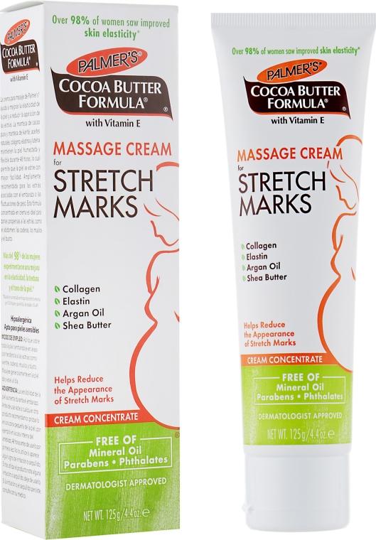 Massagecreme für Dehnungsstreifen mit Kollagen, Elastin, Arganöl und Sheabutter - Palmer's Cocoa Butter Formula Massage Cream for Stretch Marks — Bild N1