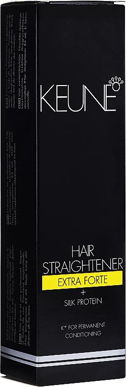 Pflegeset zur Haarglättung mit Seidenprotein Extra stark - Keune Hair Straightener Extra Forte + Silk Protein + Fixing Balm (Behandlung zur Haarglättung 85ml + Fixierender Haarbalsam 85ml)