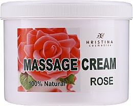 Düfte, Parfümerie und Kosmetik Pflegende glättende und verjüngende Massagecreme für Körper und Gesicht mit bulgarischem Rosenöl - Hristina Cosmetics Massage Cream Bulgarian Rose