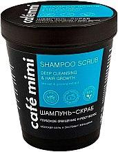 "Düfte, Parfümerie und Kosmetik Scrub Shampoo ""Deep Cleansing & Hair Growth"" - Cafe Mimi Scrub Shampoo"
