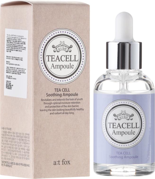 Beruhigendes Gesichtsserum mit grünem Tee und Hyaluronsäure - A:t Fox Teacell Face Serum — Bild N1