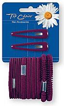 Düfte, Parfümerie und Kosmetik Haarschmuck-Set bordeauxrot - Top Choice (Klick-Klack-Spange + Haargummis 2+12 St.)