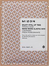 Düfte, Parfümerie und Kosmetik Belebende und straffende Tuchmaske mit Granatapfelextrakt - Mizon Enjoy Vital-Up Time